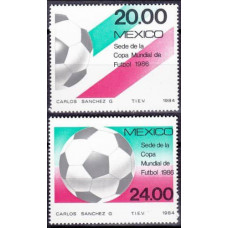 1984 Mexico Mi.1919-1920 1986 World championship on football of Mexico 4,00 €