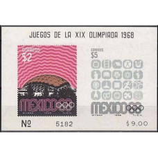 1968 Mexico Michel 1296-1297/B16b 1968 Olympiad Mexiko 20.00 €