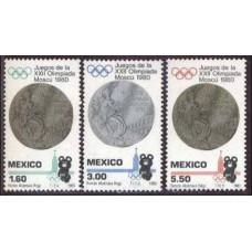 1980 Mexico Mi.1718-1720 1980 Olympiad Moskva 1.50