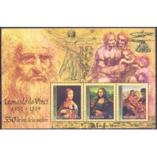 2002 Moldova Mi.434-436/B27 Leonardo da Vinci 4,50 €