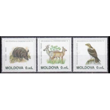 1995 Moldova Mi.158-160 Fauna 15,00 €