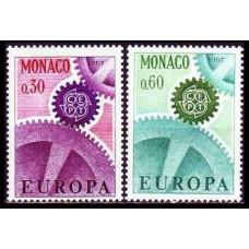 1967 Monaco Mi.870-871 Europa 2,00 €