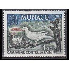 1963 Monaco Mi.733 Birds 0,70 €