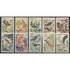 1962 Monaco Mi.700-709 Protection of birds useful to agriculture 11,00 €