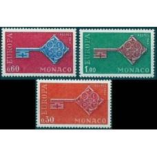 1968 Monaco Mi.879-881 Europa 3,00 €