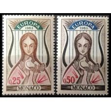 1963 Monaco Mi.742-743 Europa 3,00 €