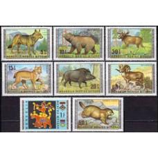 1970 Mongolia Mi.578-85 Fauna 6,00 €