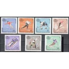1967 Mongolia Mi.472-78 1968 Olympics Grenoble 3,40