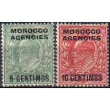 1907 Agencies Morocco Michel 23-4* Edward VII 9.50 €