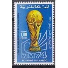 1974 Morocco Michel 776 1974 World championship on football of Munchen 1.20 €