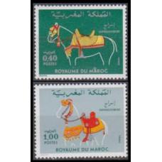 1980 Morocco Mi.933-934 Horses