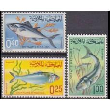 1967 Morocco Mi.577-579 Sea fauna