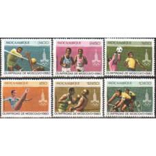 1980 Mozambique Michel 765-770 1980 Olympiad Moskva 3.00 €