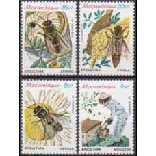 1985 Mozambique Mi.1010-1013 Insects 5,50 €
