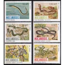 1982 Mozambique Mi876-881 Reptiles 8,50 €