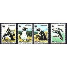 1997 Namibia Mi.837-840 WWF, Jackass Penguin 3.00 €