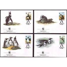 1997 Namibia Mi.837-840FDC WWF, Jackass Penguin 5,00 €