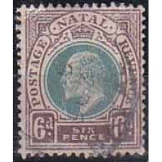 1902 Natal Michel 66 used Edward VII 1.90 €