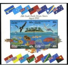 1993 Nauru Mi.394-397/B9 Sea fauna 7,00 €