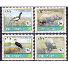 2000 Nepal Mi.718-721 WWF / Fauna 4,80 €