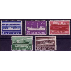 1957 Netherlands Mi.692-696 Ships 18,00 €