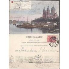 1905 Netherlands Postcard Amsterdam-Prins Hendrikkade €