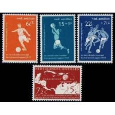 1957 Netherlands Antilles Mi.60-63 Football 7,00 €