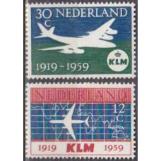 1959 Netherlands Mi.737-738 Planes 2,20 €