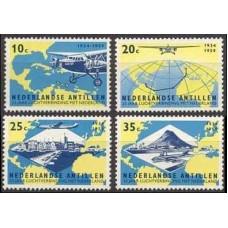 1959 Netherlands Antilles Mi.102-105 Planes 2,40 €