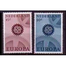 1967 Netherlands Mi.878-879y Europa 3,00 €