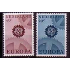 1967 Netherlands Mi.878-879x Europa 2,00 €