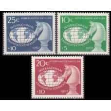1962 Netherlands Antilles Mi.124-126 Chess 3,50 €
