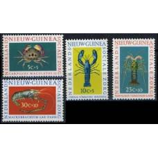 1962 Netherlands Nieuw Guinea Mi.78-81 Sea fauna 1,70