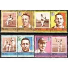 1984 Nevis Michel 220-227Paar Cricket 3.50 €
