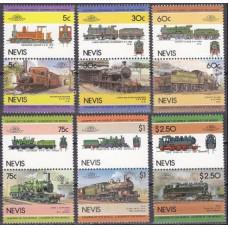 1985 Nevis Mi.280-291Paar Locomotives 4,50 €