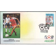 1986 Nevis cover 1986 World championship on football of Mexico €