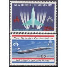 1968 New Hebrides Mi.273-274 Planes 6,00 €