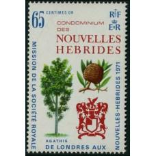 1971 New Hebrides Mi.310 Trees 2,50 €