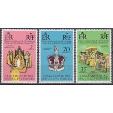 1977 New Hebrides 444-446 Elizabet II 3,50 €
