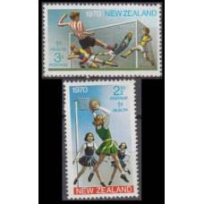1970 New Zealand Mi.543-544 Football