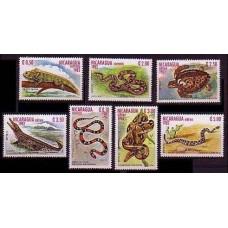1982 Nicaragua Mi.2335-2341 Reptiles 6,00 €
