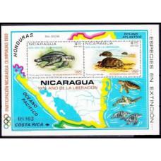 1980 Nicaragua Mi.2109-2110/B114 1980 Olympic Moscow 45,00 €