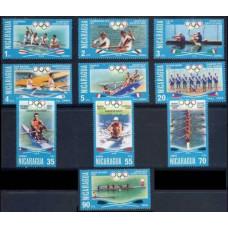 1976 Nicaragua Mi.1948-1957 1976 Olympic Montreal 6,00