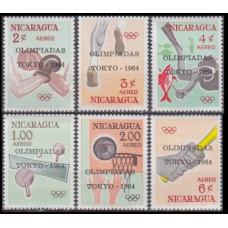 1964 Nicaragua Mi.1366-1371 1964 Olympics Tokyo 6,00 €
