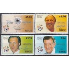 1990 Niue Michel 753-56 1990 World championship on football of Italien 18.00 €