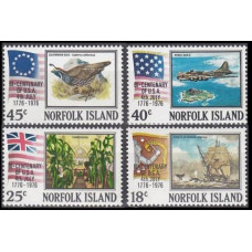 1976 Norfolk Island Mi.177-180 Bi-centenary of USA 4th July 3,00 €