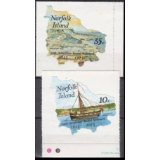 1975 Norfolk Island Mi.168-169 Ships with sails €