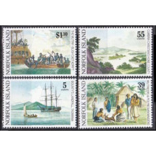 1989 Norfolk Island Mi.455-458 Ships with sails 9,50 €