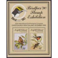 1990 Norfolk Island Mi.493-494/B13 Birdpex '90 7,00