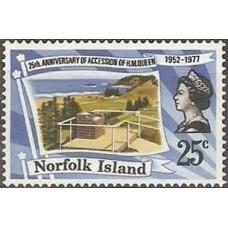 1977 Norfolk Island Mi.201 Elizabet II 0,70